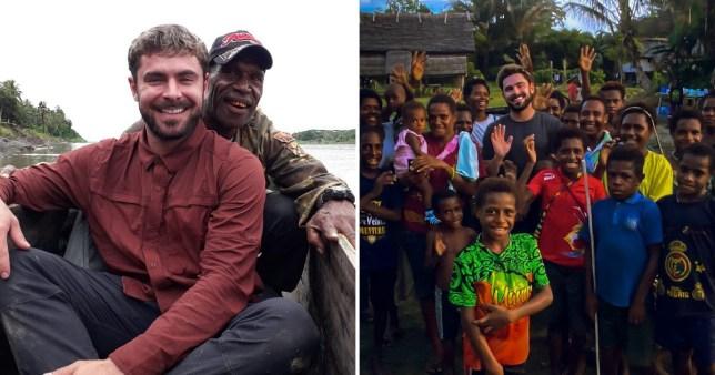 Actor Zac Efron in Papua New Guinea