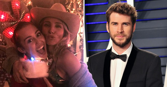 Miley Cyrus with Elsa Pataky and Liam Hemsworth