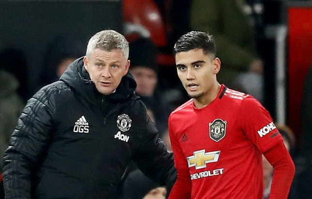 Ole Gunnar Solskjaer insists Andreas Pereira is improving 'all the time' after Manchester United's draw with Aston Villa
