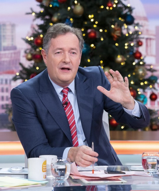 Editorial use only Mandatory Credit: Photo by Ken McKay/ITV/REX (10489548ab) Piers Morgan 'Good Morning Britain' TV show, London, UK - 02 Dec 2019
