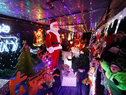 Granddad spends three weeks transforming his home into a Christmas wonderland