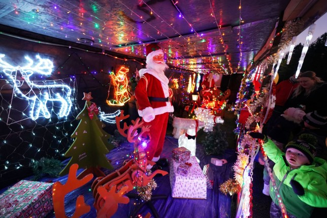 Stan Yanetta, 58, in South Tyneside, has spent the last 3 weeks transforming his house with Christmas lights and decorations. (Picture: PA)
