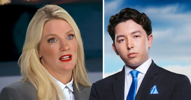 the Apprentice candidate close to tears after being compared to to 'man in drag' by rival Ryan-Mark