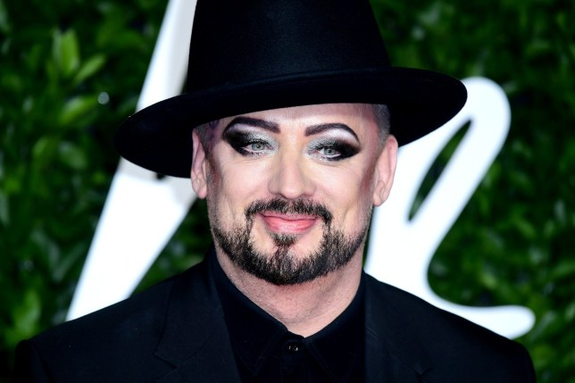 Boy George attending the Fashion Awards 2019 at the Royal Albert Hall, Kensington Gore, London. PA Photo. Picture date: Monday December 2, 2019. See PA story SHOWBIZ Fashion. Photo credit should read: Ian West/PA Wire