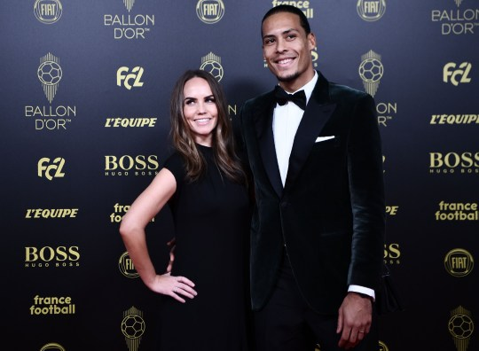 Virgil Van Dijk attended the Ballon d'Or awards with his wife Rike Nooitgedagt