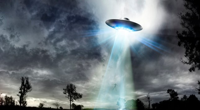 a drawing of a ufo
