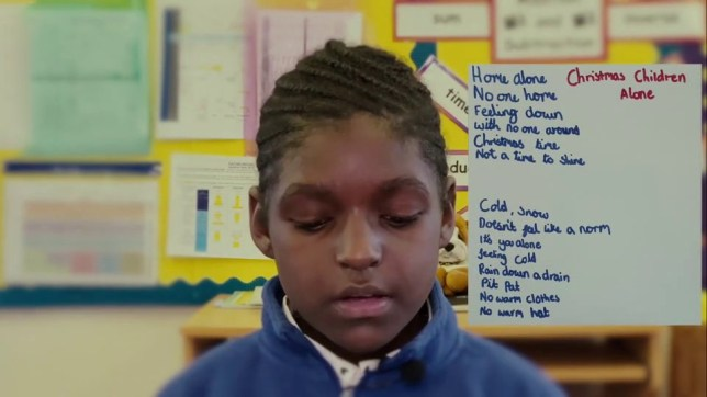Heartbreaking video shows children talking about spending Christmas in poverty