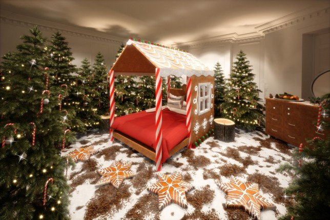 Stay in a candy cane house where you can eat the decorations this Christmas