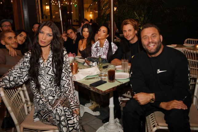 Bella Hadid keeps up with the Kardashians at glamorous event with Kim and Kourtney