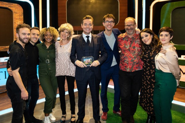 coronation and Emmerdale cast with Stephen Mulhern in The Big Soap Quiz