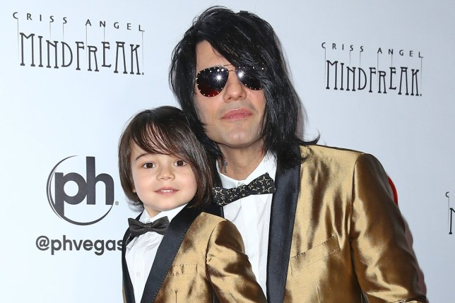 Criss Angel and son