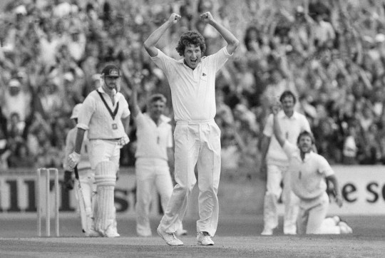 (FILE PHOTO) It has been announced that England Cricketer Bob Willis has died at 70 . Ian Botham takes the catch from Graham Yallop off Bob Willis's bowling during the England v Australia 6th test at the Oval London 27th August 1981. (Photo by David Ashdown/Getty Images)