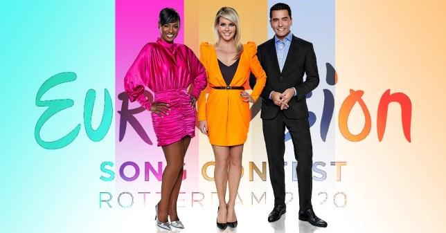 Eurovision hosts revealedPicture: NPO/AVROTROS/NOSMETROGRABtaken fro official eurovision site:https://eurovision.tv/story/eurovision-2020-presenters-chantal-janzen-edsilia-rombley-jan-smit