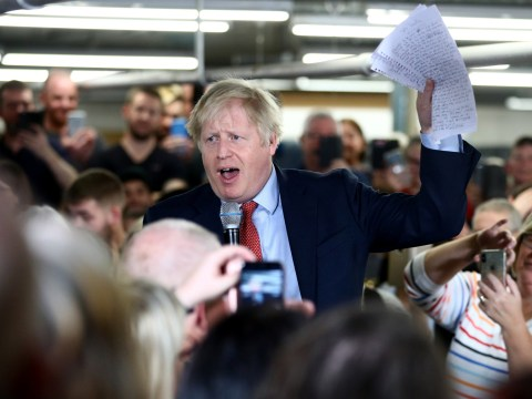 Did Boris say 'people of talent' or 'people of colour' during speech?