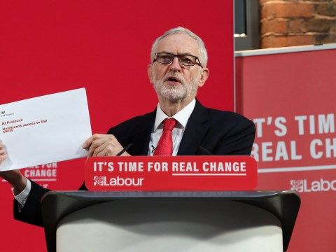 Corbyn claims there will be a border in the Irish Sea after releasing secret document