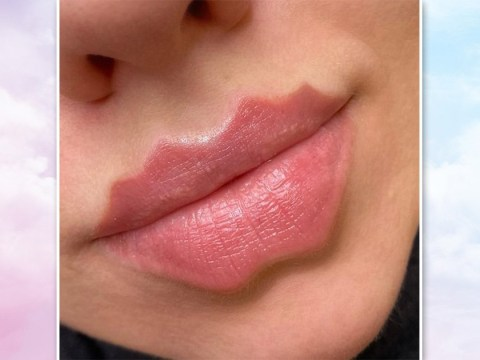 We highly doubt that 'devil lips' are going to become the next big beauty trend