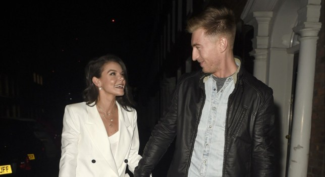 BGUK_1809147 - Manchester, UNITED KINGDOM - STRICTLY NO MAIL ON LINE USAGE Celebs pictured at The Rose and Caramel White Party at History in Manchester. STRICTLY NO MAIL ON LINE USAGE Pictured: Faye Brookes, Joe Davies BACKGRID UK 7 DECEMBER 2019 UK: +44 208 344 2007 / uksales@backgrid.com USA: +1 310 798 9111 / usasales@backgrid.com *UK Clients - Pictures Containing Children Please Pixelate Face Prior To Publication*