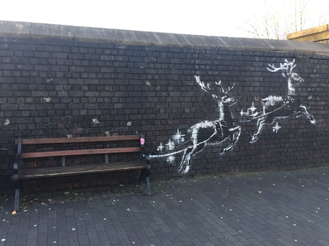 Where is Banksy's newest artwork and what is it of?