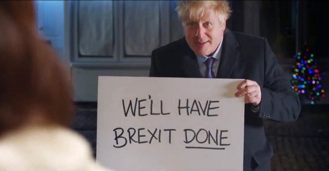 Boris Johnson spoofing Love Actually in a Conservative Party campaign video