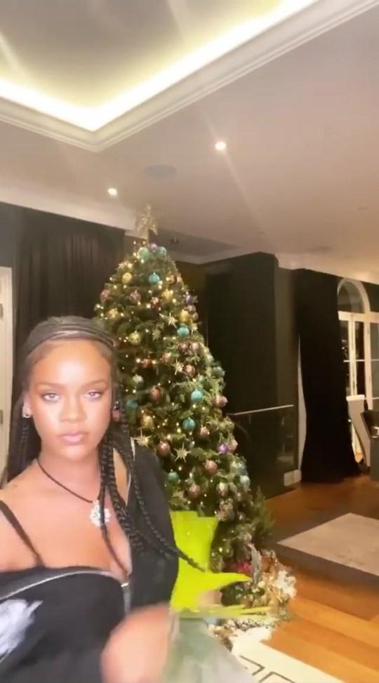 Rihanna Christmas tree Instagram