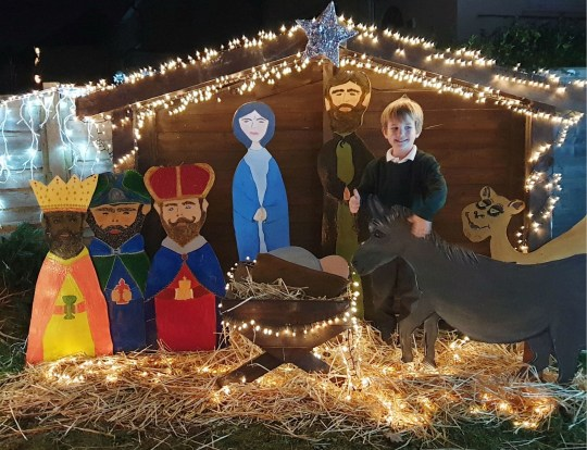 Joanna Sand's nativity scene she built by hand