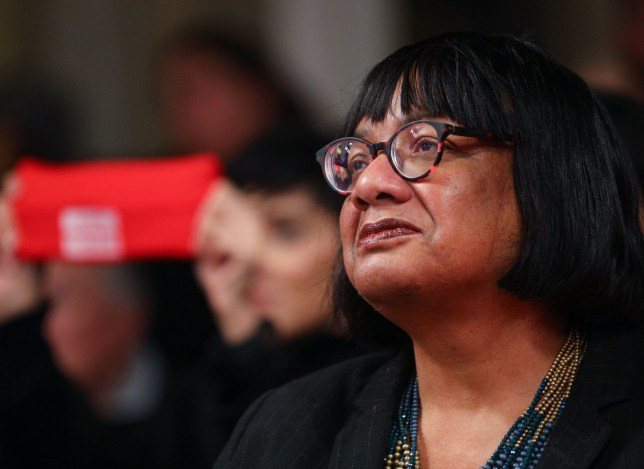 Mandatory Credit: Photo by Tom Nicholson/REX (10502224c) Diane Abbott Labour Leader Jeremy Corbyn eve of poll rally, London, UK - 11 Dec 2019
