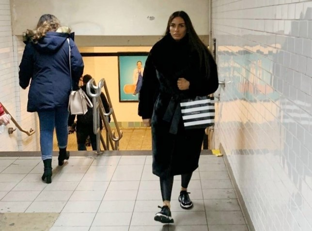 Katie Price wraps up warm as she rides the subway in New York