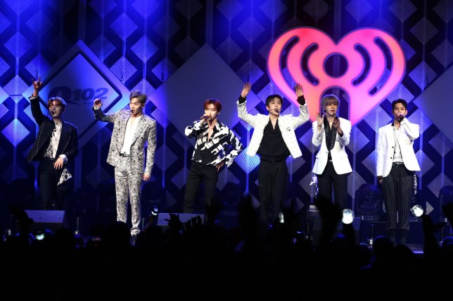 PHILADELPHIA, PENNSYLVANIA - DECEMBER 11: Shownu, Wonho, Minhyuk, Hyungwon, Joohoney, and I.M of Monsta X perform onstage during Q102's Jingle Ball 2019 Presented by Capital One at Wells Fargo Center on December 11, 2019 in Philadelphia, Pennsylvania. (Photo by Bill McCay/Getty Images for iHeartMedia)
