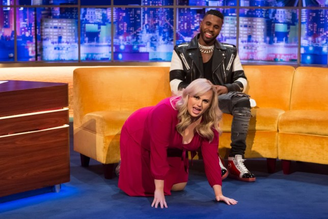 Mandatory Credit: Brian J Ritchie/Hotsauce Editorial Use Only. No Merchandising - STRICTLY EMBARGOED UNTIL 00.01 ON FRIDAY 13TH DECEMBER 2019 Mandatory Credit: Photo by Brian J Ritchie/Hotsauce/REX (10503779ae) Rebel Wilson, Jason Derulo 'The Jonathan Ross Show', TV show, Series 15, Episode 14, London, UK - 14 Dec 2019