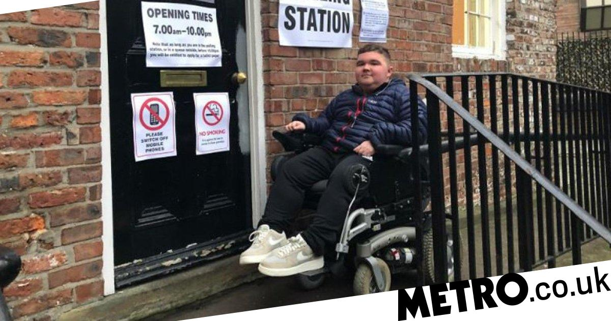 Disabled student couldn't get into polling station because