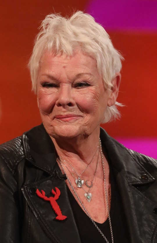 Judi Dench during the filming for the Graham Norton Show at BBC Studioworks 6 Television Centre, Wood Lane, London, to be aired on BBC One on Friday evening. PA Photo. Picture date: Thursday December 12, 2019. Photo credit should read: PA Images on behalf of So TV
