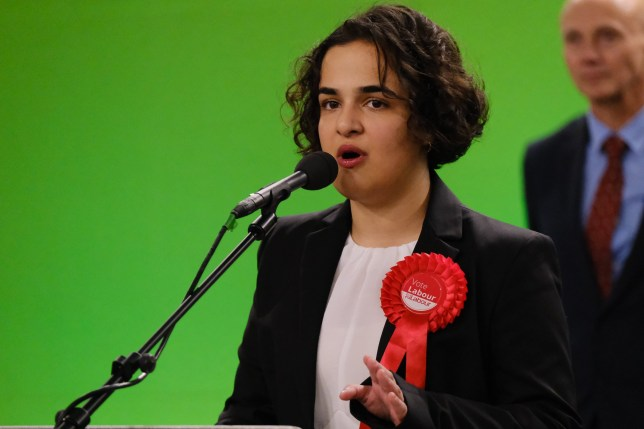 Nadia Whittome, Labour, gains a seat for Nottingham East. Votes were counted, Nottingham South, North and East election count, Nottingham Tennis Centre, December 12 2019.