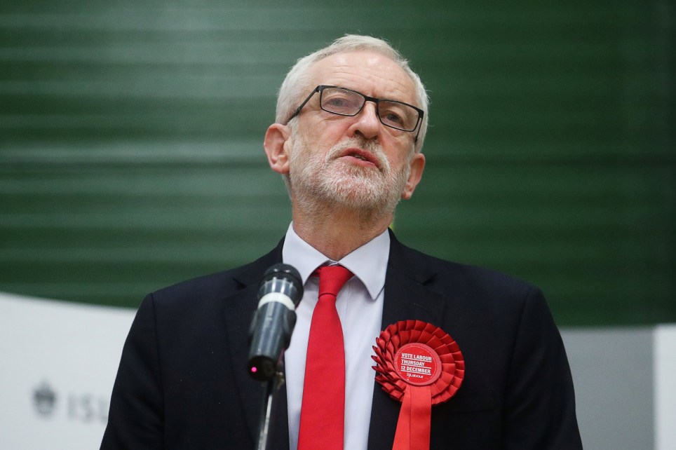 Britain's opposition Labour Party leader??Jeremy Corbyn speaks after the General Election results of the Islington North constituency were announced at a counting centre in Islington during Britain's general election, London, Britain December 13, 2019. REUTERS/Hannah McKay