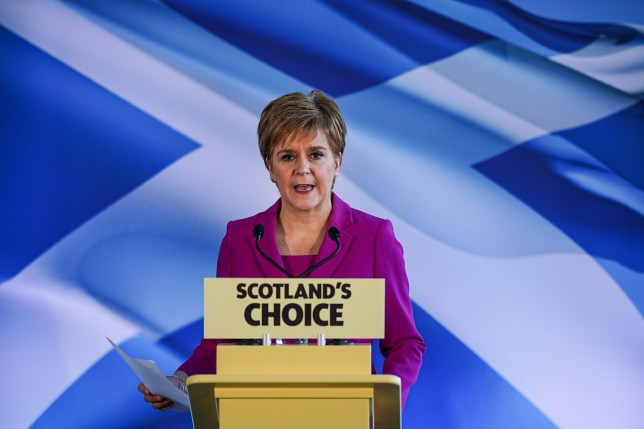 SNP's Nicola Sturgeon is in favour of another Scottish referendum