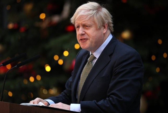 LONDON, ENGLAND - DECEMBER 13: Prime Minister Boris Johnson makes a statement in Downing Street after receiving permission to form the next government during an audience with Queen Elizabeth II at Buckingham Palace earlier today, on December 13, 2019 in London, England. The Conservative Party have realised a decisive win in the UK General Election. With one seat left to declare they have won 364 of the 650 seats available. Prime Minister Boris Johnson called the first UK winter election for nearly a century in an attempt to gain a working majority to break the parliamentary deadlock over Brexit. working majority to break the parliamentary deadlock over Brexit. He said at an early morning press conference that he would repay the trust of voters. (Photo by Dan Kitwood/Getty Images)