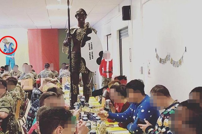 Soldiers pictured in blackface and Jimmy Savile's tracksuit at Christmas party
