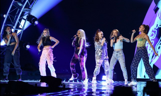 Girl group Real Like You perform on The X Factor: Band final