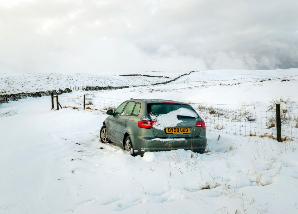 An abandoned car near Fleet Moss in the Yorkshire Dales National Park. PA Photo. Picture date: Monday December 16, 2019. Photo credit should read: Danny Lawson/PA Wire