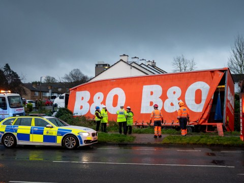 Family left homeless after B&Q lorry crashes into house