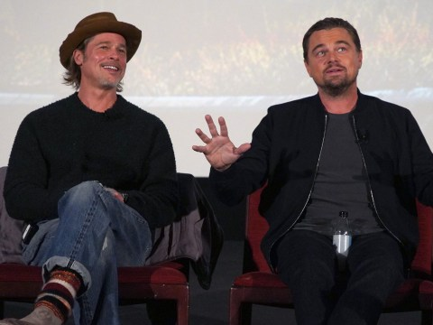 Brad Pitt and Leonardo DiCaprio's bromance is back on as they reunite for Once Upon A Time In Hollywood Q&A