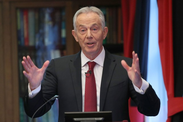 Former prime minister Tony Blair gives a speech on the future of the Labour Party and progressive politics at the Hallam Conference Centre in central London. PA Photo. Picture date: Wednesday December 18, 2019. See PA story POLITICS Labour. Photo credit should read: Yui Mok/PA Wire