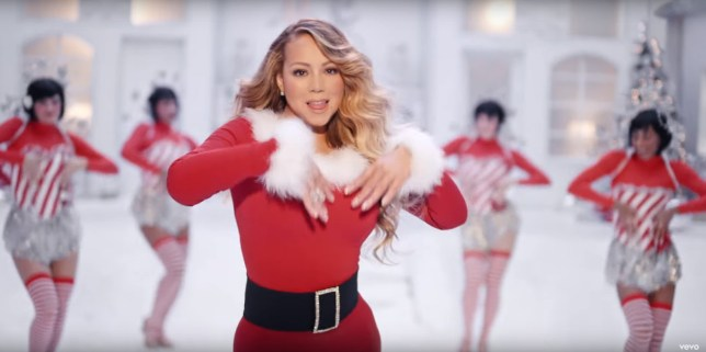 Mariah Carey in All I Want For Christmas video