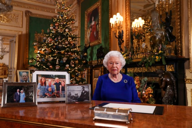 The Queen recorded her annual Christmas broadcast in Windsor Castle, Berkshire (Picture: PA)