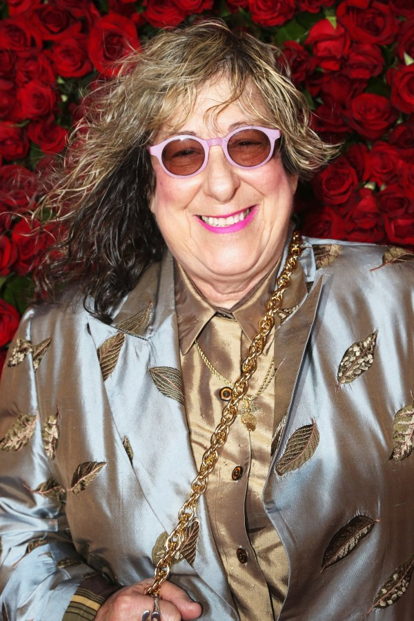 """FILE - DECEMBER 24, 2019: Songwriter Allee Willis has died at 72 on December 24, 2019 from cardiac arrest. Willis was best known for her work with Earth, Wind and Fire and for writing the """"Friends"""" theme song. Willis was inducted into the Songwriter's Hall of Fame and won two Grammy Awards. NEW YORK, NY - JUNE 12: Songwriter Allee Willis attends 70th Annual Tony Awards - Arrivals at Beacon Theatre on June 12, 2016 in New York City. (Photo by Bruce Glikas/FilmMagic)"""