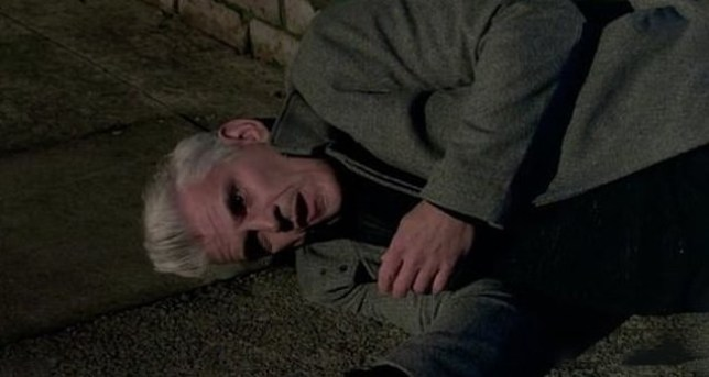 Robert dying in Coronation Street