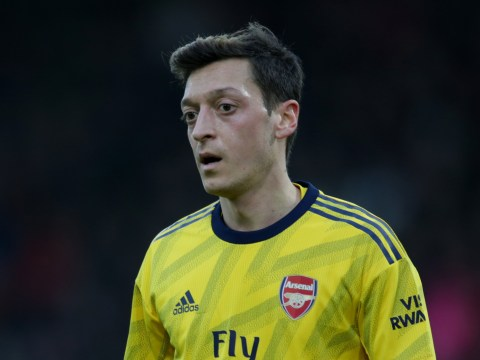 Mesut Ozil shows support for Mikel Arteta after Arsenal's draw with Bournemouth