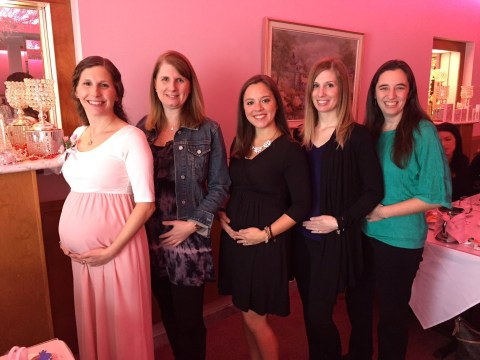 Five friends who all struggled to conceive for years have babies at same time