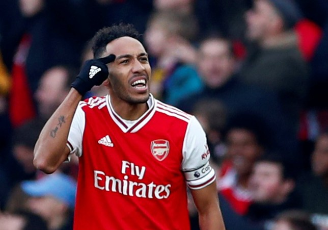 Pierre-Emerick Aubameyang taunts Chelsea fans after scoring a goal for Arsenal