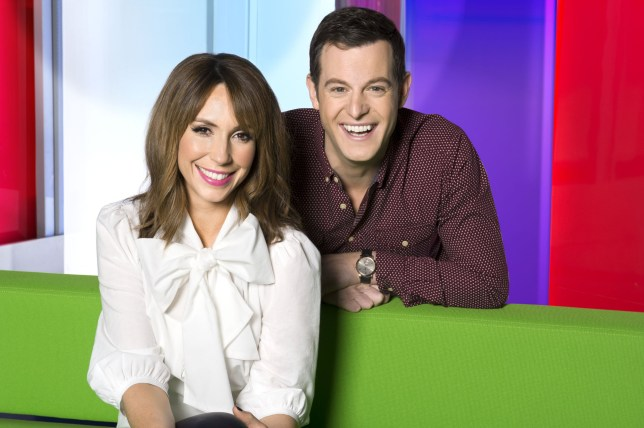 Television Programme: The One Show with Alex Jones and Matt Baker. Programme Name: The One Show - TX: n/a - Episode: n/a (No. n/a) - Picture Shows: (L-R) Alex Jones, Matt Baker - (C) BBC - Photographer: Ray Burmiston