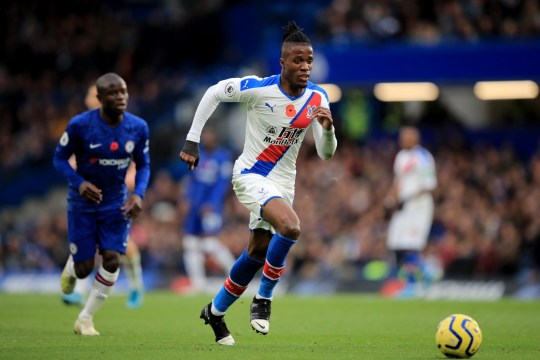 Chelsea have already held talks over Wilfried Zaha's signing